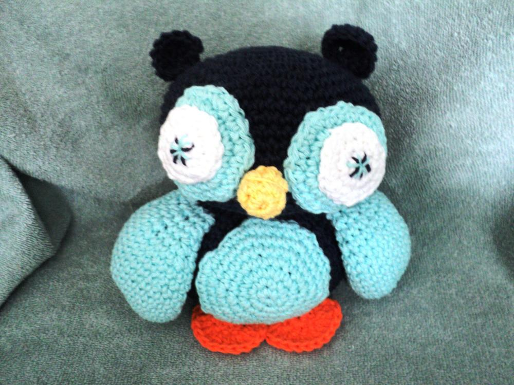 Crocheted Owl Toy